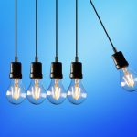 five bulb lights